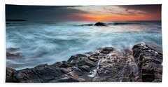 Black Sea Rocks Bath Towel