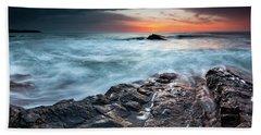 Black Sea Rocks Bath Towel