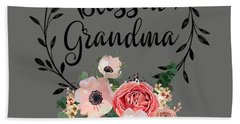 Blessed Grandma T-shirt With Floral, Heart Mother's Day Gift Hand Towel