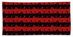 Blood Red And Black Halloween Nightmare Stripes  Bath Towel