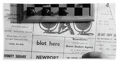 Blot Here, Aka Black's Move, 1972 Bath Towel