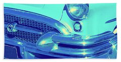 Blue 1955 Buick Special Bath Towel
