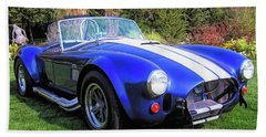 Blue 427 Shelby Cobra In The Garden Hand Towel