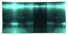 Blue Aluminum Surface. Metallic Fashion Geometric  Background Bath Towel