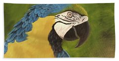 Blue And Gold Mccaw Hand Towel