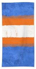 Blue And Orange Abstract Theme I Hand Towel