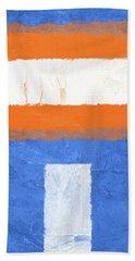 Blue And Orange Abstract Theme II Hand Towel