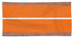Blue And Orange Abstract Theme Iv Hand Towel
