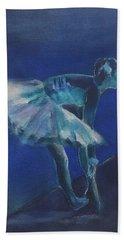 Blue Ballerina Hand Towel