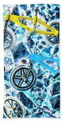 Blue Bike Background Hand Towel