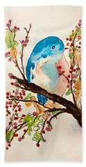 Blue Bird Bath Towel