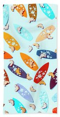 Blue Boarding Beach Hand Towel