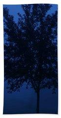 Blue Cherry Tree Hand Towel
