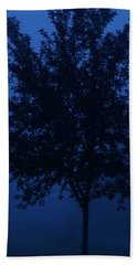 Blue Cherry Tree Bath Towel