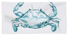 Blue Crab Turcoise Bath Towel