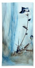 Blue Flower Abstract Hand Towel