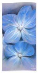 Blue Hydrangea Hand Towel