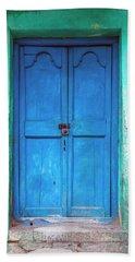 Blue Indian Door Bath Towel