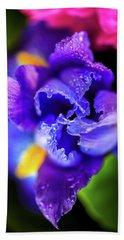 Blue Iris Dance Hand Towel