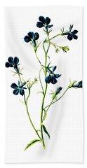 Blue Lobelia Flower Bath Towel