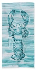 Blue Lobster Hand Towel