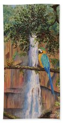 Blue Macaw Hand Towel