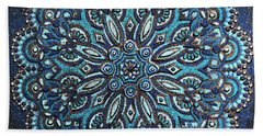 Blue Mandala Hand Towel
