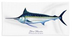Blue Marlin Bath Towel