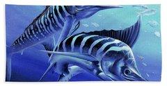 Blue Marlins Bath Towel