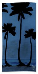 Blue - Night - Beach Hand Towel