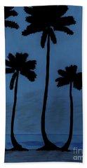 Blue - Night - Beach Bath Towel
