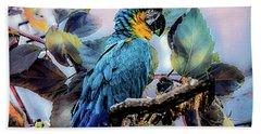 Blue Parrot Hand Towel