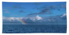 Blue Rainbow Horizon Bath Towel