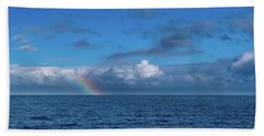 Blue Rainbow Horizon Bath Towel