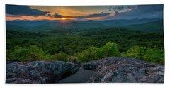 Blue Ridge Mountain Sunset Bath Towel