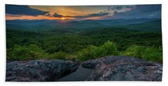 Blue Ridge Mountain Sunset Bath Towel