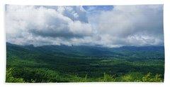 Blue Ridge Mountains Fine Day Hand Towel