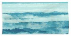 Blue Ridge Mountains Layers Upon Layers In Fog Bath Towel