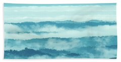 Blue Ridge Mountains Layers Upon Layers In Fog Bath Towel