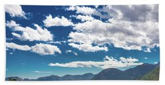 Blue Skies And Mountains II Hand Towel