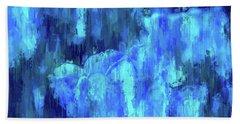 Blue Tulips On A Rainy Day Hand Towel