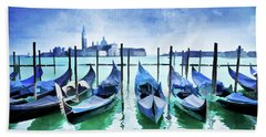 Blue Venice Hand Towel