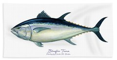 Bluefin Tuna Bath Towel