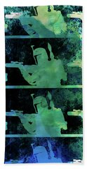 Boba Fett Collage Watercolor 2 Bath Towel