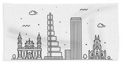 Bogota Cityscape Travel Poster Hand Towel