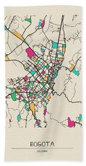 Bogota, Colombia City Map Hand Towel