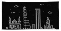 Bogota Skyline Travel Poster Bath Towel