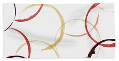 Bold Modern Wine Rings Art Hand Towel
