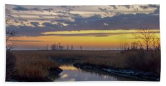 Bombay Hook Dawn's Early Light Bath Towel