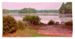 Borderland Pond With Monet's Palette Hand Towel